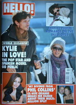 <!--2009-01-13-->Hello! magazine - Kylie Minogue and Andres Velencoso cover