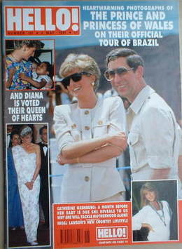 <!--1991-05-04-->Hello! magazine - Princess Diana and Prince Charles cover