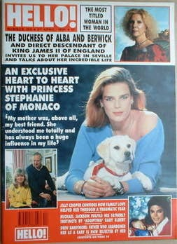 <!--1991-04-27-->Hello! magazine - Princess Stephanie cover (27 April 1991
