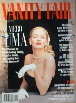 Vanity Fair magazine - Uma Thurman cover (January 1996)