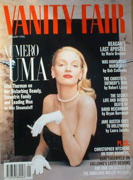 <!--1996-01-->Vanity Fair magazine - Uma Thurman cover (January 1996)