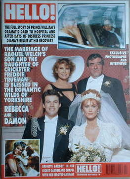 <!--1991-06-15-->Hello! magazine - Raquel Welch cover (15 June 1991 - Issue