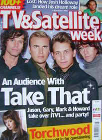TV & Satellite Week magazine - Take That cover (2-8 December 2006)