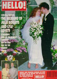 <!--1993-07-10-->Hello! magazine - Julia Roberts and Lyle Lovett cover (10