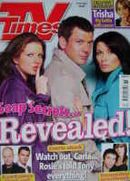 <!--2008-09-06-->TV Times magazine - Helen Flanagan, Gray O'Brien, Alison King cover (6-12 September 2008)