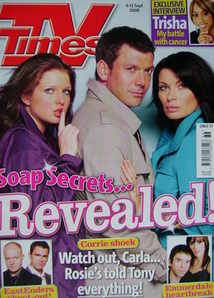 <!--2008-09-06-->TV Times magazine - Helen Flanagan, Gray O'Brien, Alison K