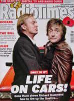 <!--2008-11-08-->Radio Times magazine - Philip Glenister and Richard Hammond cover (8-14 November 2008)