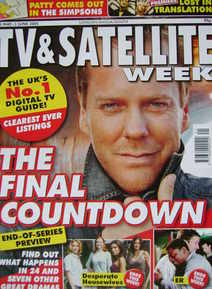 TV&Satellite Week magazine - Kiefer Sutherland cover (28 May-3 June 2005)