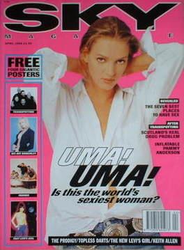 <!--1996-04-->Sky magazine - Uma Thurman cover (April 1996)