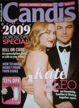 Candis magazine - January 2009 - Kate Winslet and Leonardo DiCaprio cover