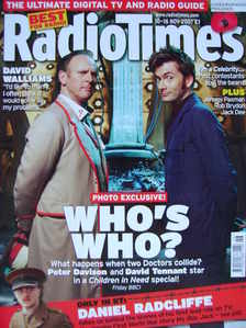 <!--2007-11-10-->Radio Times magazine - David Tennant and Peter Davison cov