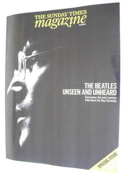 <!--2009-09-06-->The Sunday Times magazine - John Lennon cover (6 September