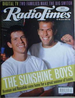 <!--1999-06-12-->Radio Times magazine - Tim Henman and Greg Rusedski cover