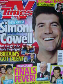 <!--2007-06-09-->TV Times magazine - Simon Cowell cover (9-15 June 2007)