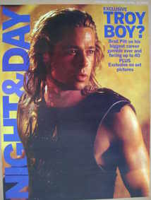 Night & Day magazine - Brad Pitt Troy cover (25 April 2004)
