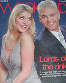 <!--2008-01-12-->Weekend magazine - Holly Willoughby and Phillip Schofield cover (12 January 2008)