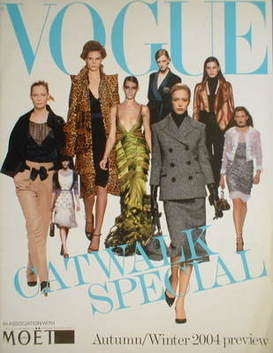 British Vogue supplement - Catwalk Special Autumn/Winter 2004 Preview