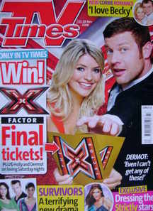 <!--2008-11-22-->TV Times magazine - Holly Willoughby and Dermot O'Leary co