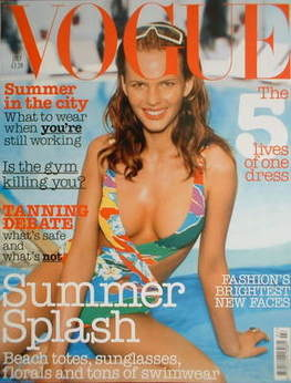 <!--2003-07-->British Vogue magazine - July 2003 - Anne Vyalitsyna cover