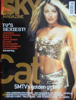 Sky magazine - Cat Deeley cover (November 2000)