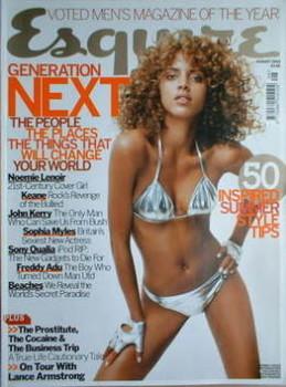 Esquire magazine - Noemie Lenoir cover (August 2004)