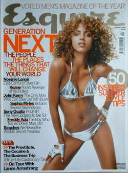 <!--2004-08-->Esquire magazine - Noemie Lenoir cover (August 2004)
