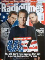 <!--2009-01-10-->Radio Times magazine - Hugh Laurie, Kiefer Sutherland and William Petersen (Gil Grissom) cover (10-16 January 2009)