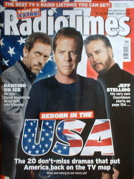 <!--2009-01-10-->Radio Times magazine - Hugh Laurie, Kiefer Sutherland and