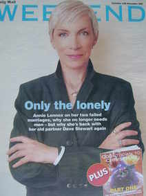 Weekend magazine - Annie Lennox cover (12 November 2005)