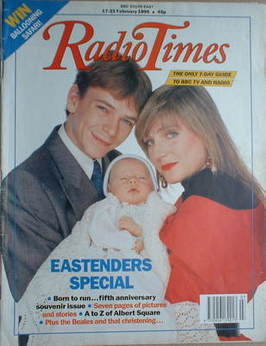 <!--1990-02-17-->Radio Times magazine - Adam Woodyatt and Michelle Collins