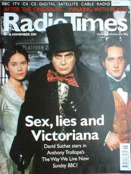 <!--2001-11-10-->Radio Times magazine - David Suchet, Paloma Baeza and Matt