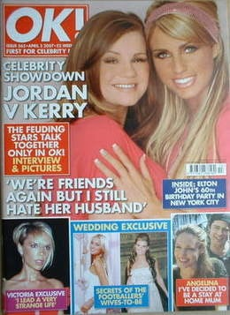 <!--2007-04-03-->OK! magazine - Jordan Katie Price and Kerry Katona cover (