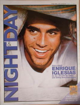Night & Day magazine - Enrique Iglesias cover (12 May 2002)