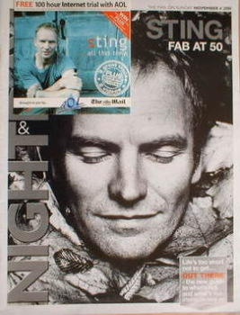 Night & Day magazine - Sting cover (4 November 2001)