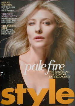 <!--2009-01-11-->Style magazine - Cate Blanchett cover (11 January 2009)