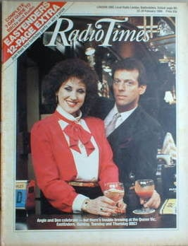 <!--1986-02-22-->Radio Times magazine - Leslie Grantham and Anita Dobson co