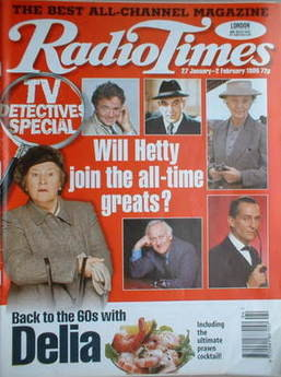<!--1996-01-27-->Radio Times magazine - TV Detectives Special cover (27 Jan