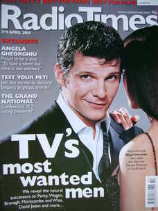 <!--2004-04-03-->Radio Times magazine - Nigel Harman cover (3-9 April 2004)