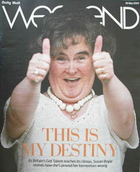 Weekend magazine - Susan Boyle cover (30 May 2009)