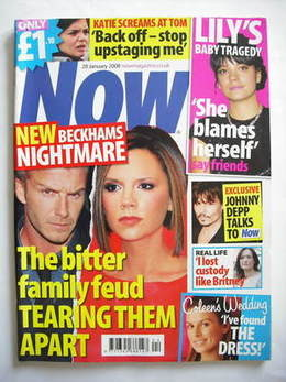 <!--2008-01-28-->Now magazine - David Beckham and Victoria Beckham cover (2