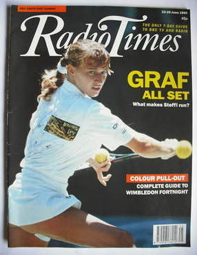 <!--1990-06-23-->Radio Times magazine - Steffi Graf cover (23-29 June 1990)