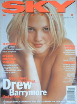 Sky magazine - Drew Barrymore cover (July 1994)