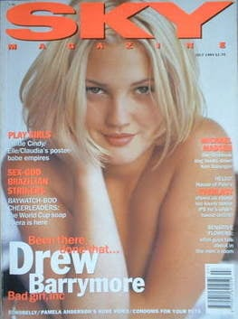 <!--1994-07-->Sky magazine - Drew Barrymore cover (July 1994)