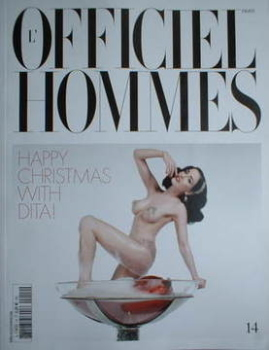 <!--2008-12-->L'Officiel Hommes (Paris) magazine - Dita Von Teese cover (December 2008/January 2009)