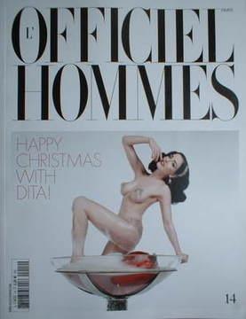L'Officiel Hommes (Paris) magazine - Dita Von Teese cover (December 2008/Ja