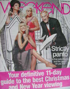 <!--2007-12-22-->Weekend magazine - Strictly Come Dancing cover (22 December 2007)