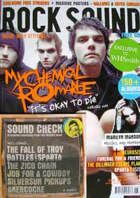 Rock Sound magazine - My Chemical Romance cover (June 2007)
