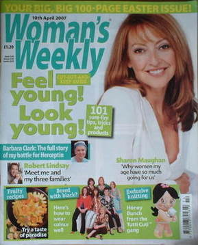 <!--2007-04-10-->Woman's Weekly magazine (10 April 2007 - Sharon Maughan co