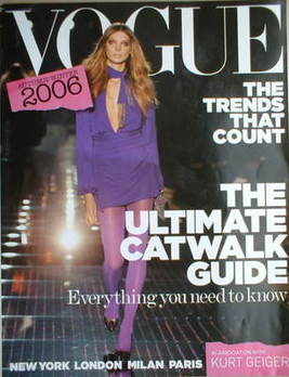 British Vogue supplement - The Ultimate Catwalk Guide (Autumn/Winter 2006)