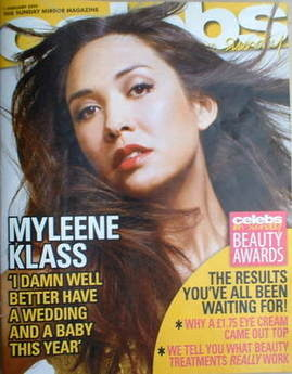 <!--2009-02-01-->Celebs magazine - Myleene Klass cover (1 February 2009)